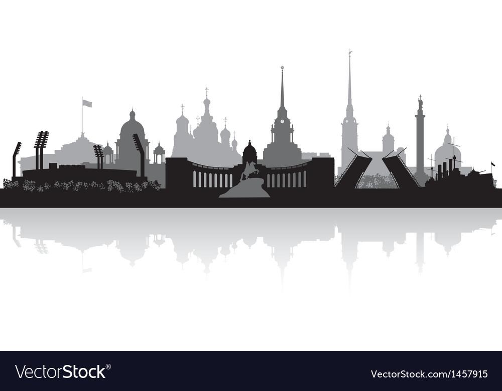 Saint petersburg city skyline silhouette vector | Price: 1 Credit (USD $1)
