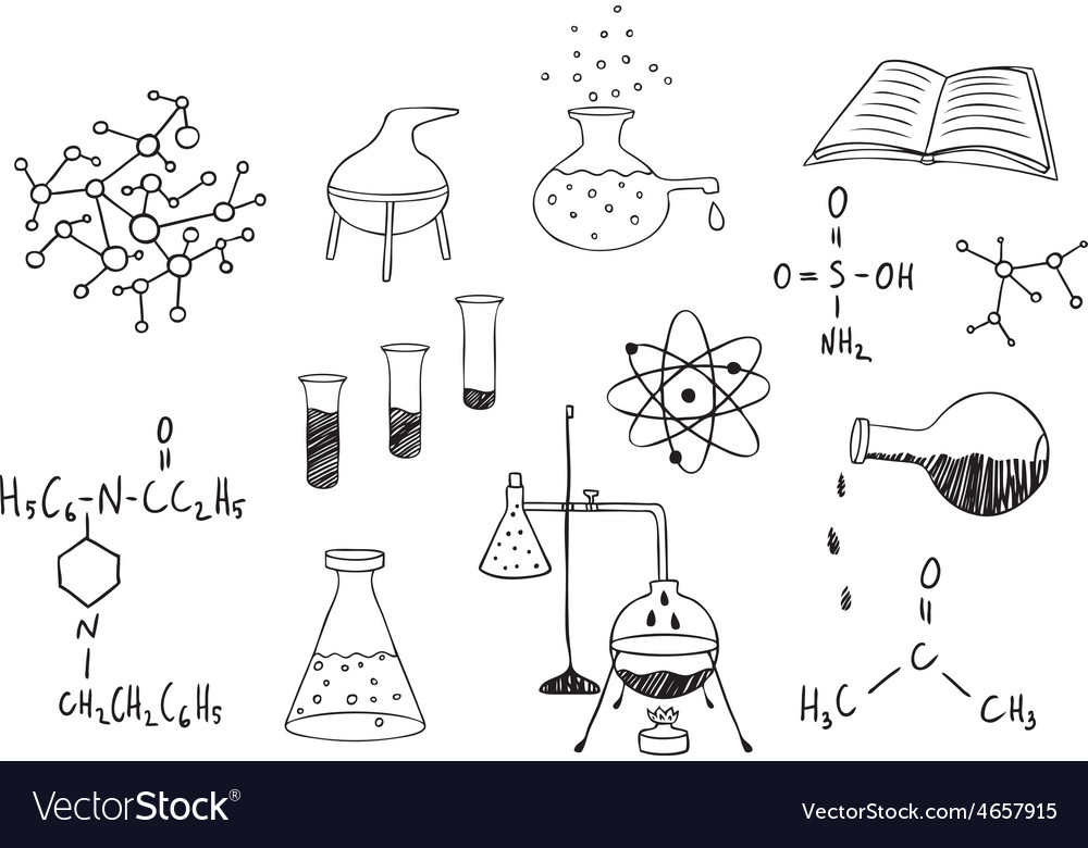 Science and chemistry set vector | Price: 1 Credit (USD $1)