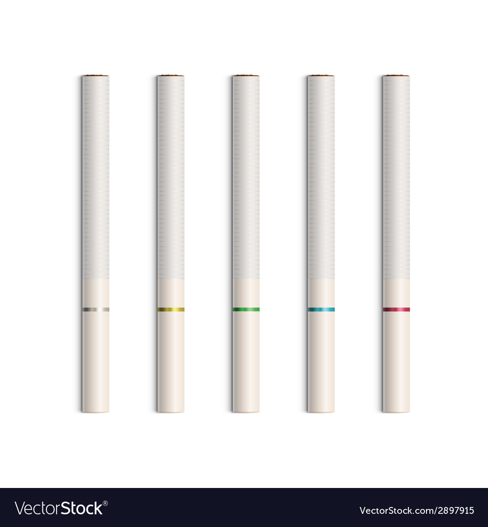 Set of cigarettes with white filters vector | Price: 1 Credit (USD $1)