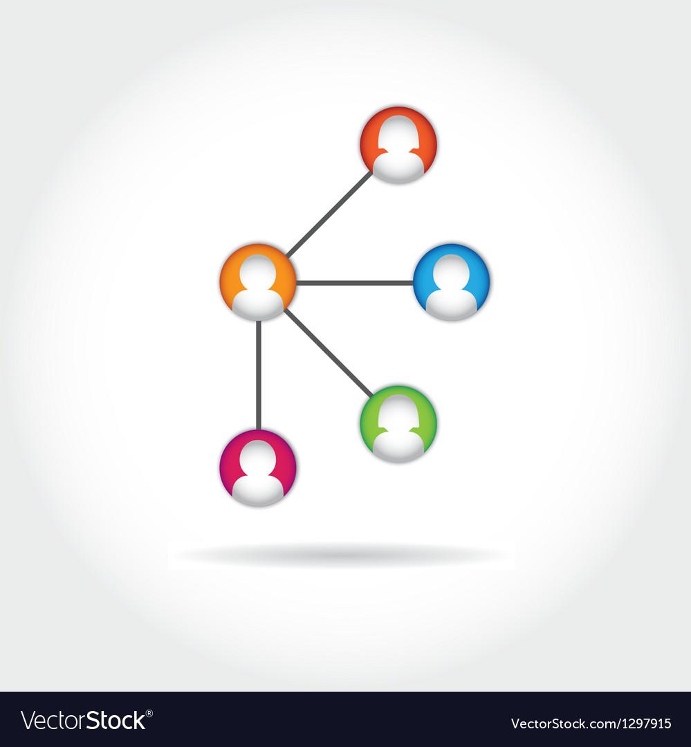 Social icon group element flirtation intern vector | Price: 1 Credit (USD $1)