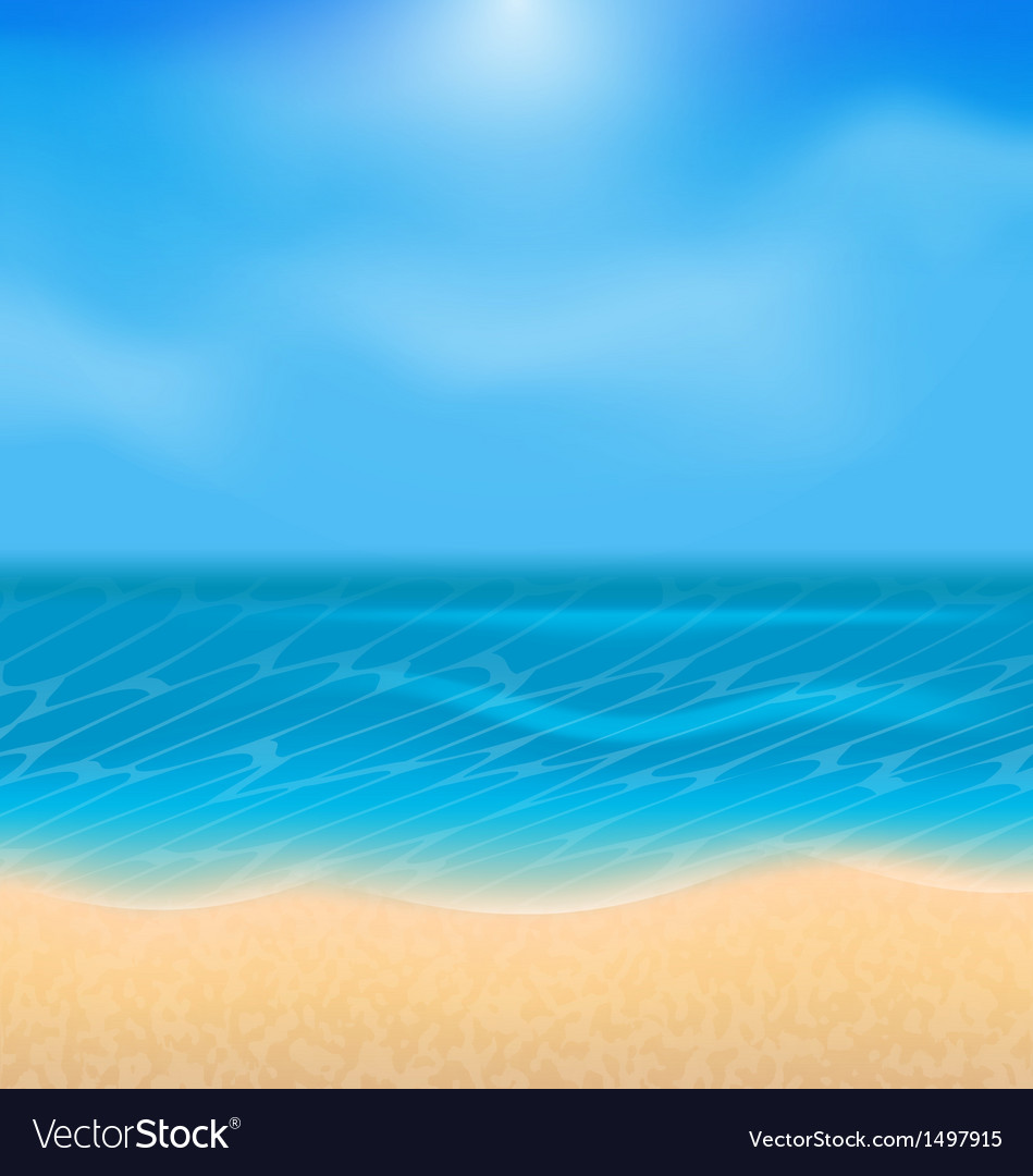 Summer holiday background with sunlight vector | Price: 1 Credit (USD $1)