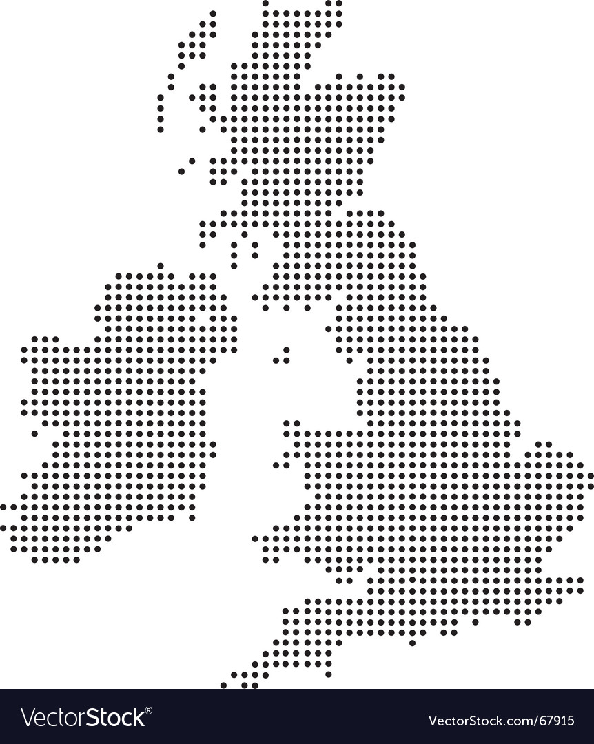 Uk dot map vector | Price: 1 Credit (USD $1)