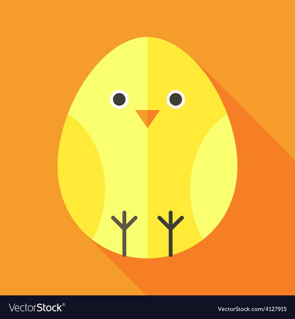 Yellow chick egg shaped vector | Price: 1 Credit (USD $1)