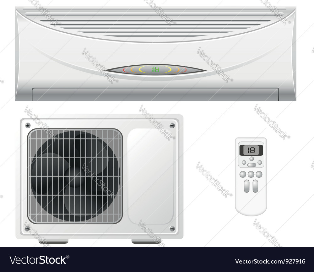 Air conditioning split system vector | Price: 3 Credit (USD $3)