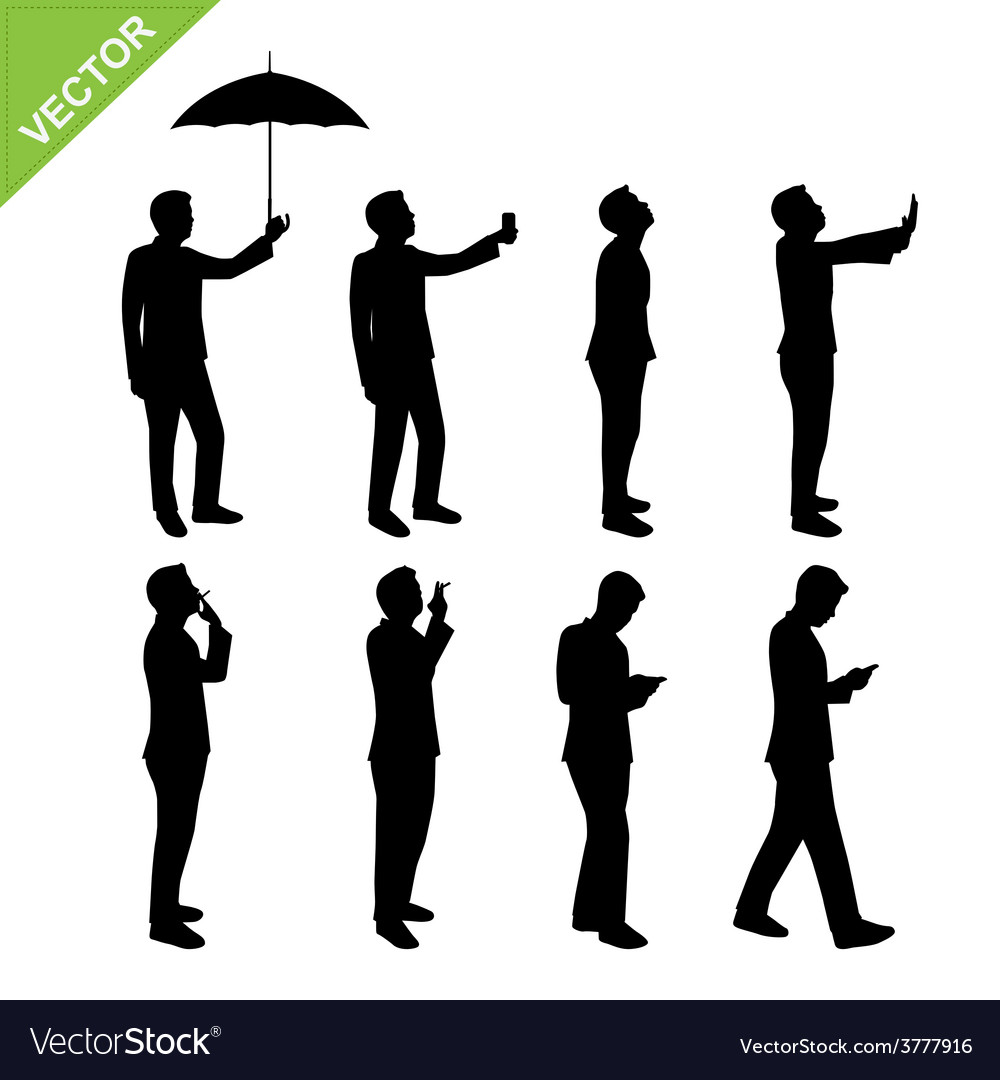 Business man silhouettes vector   Price: 1 Credit (USD $1)
