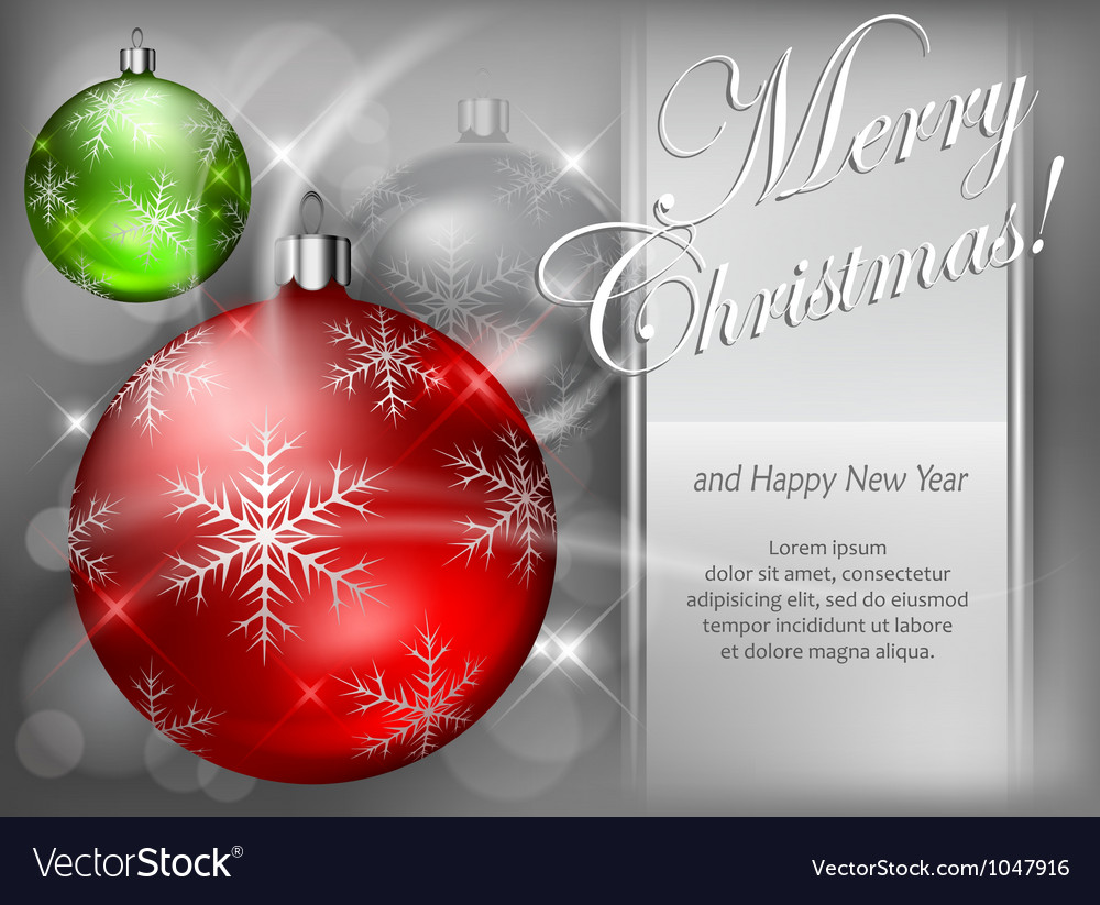 Christmas background baubles color 4 10 ss v vector | Price: 1 Credit (USD $1)