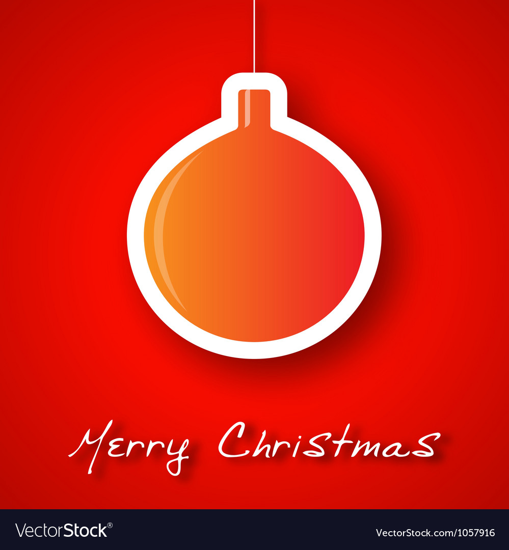 Christmas ball applique background vector | Price: 1 Credit (USD $1)
