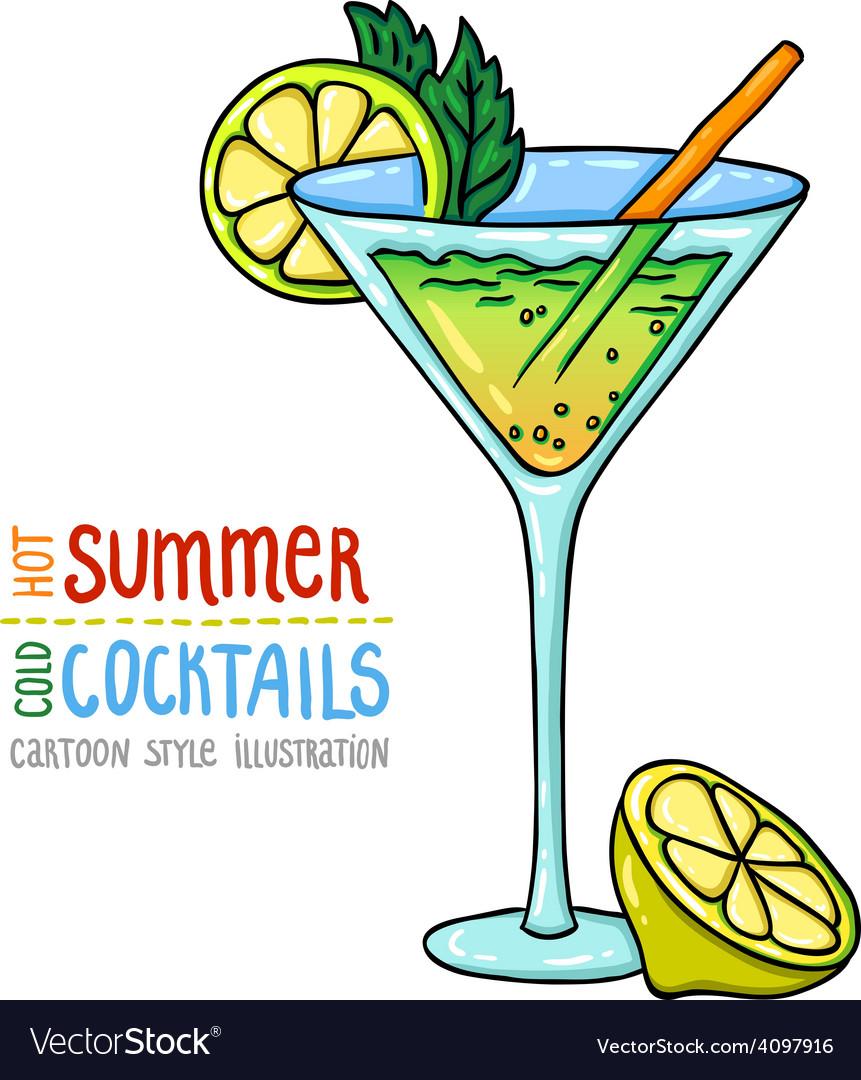 Cocktails one cartoon 6 vector | Price: 1 Credit (USD $1)