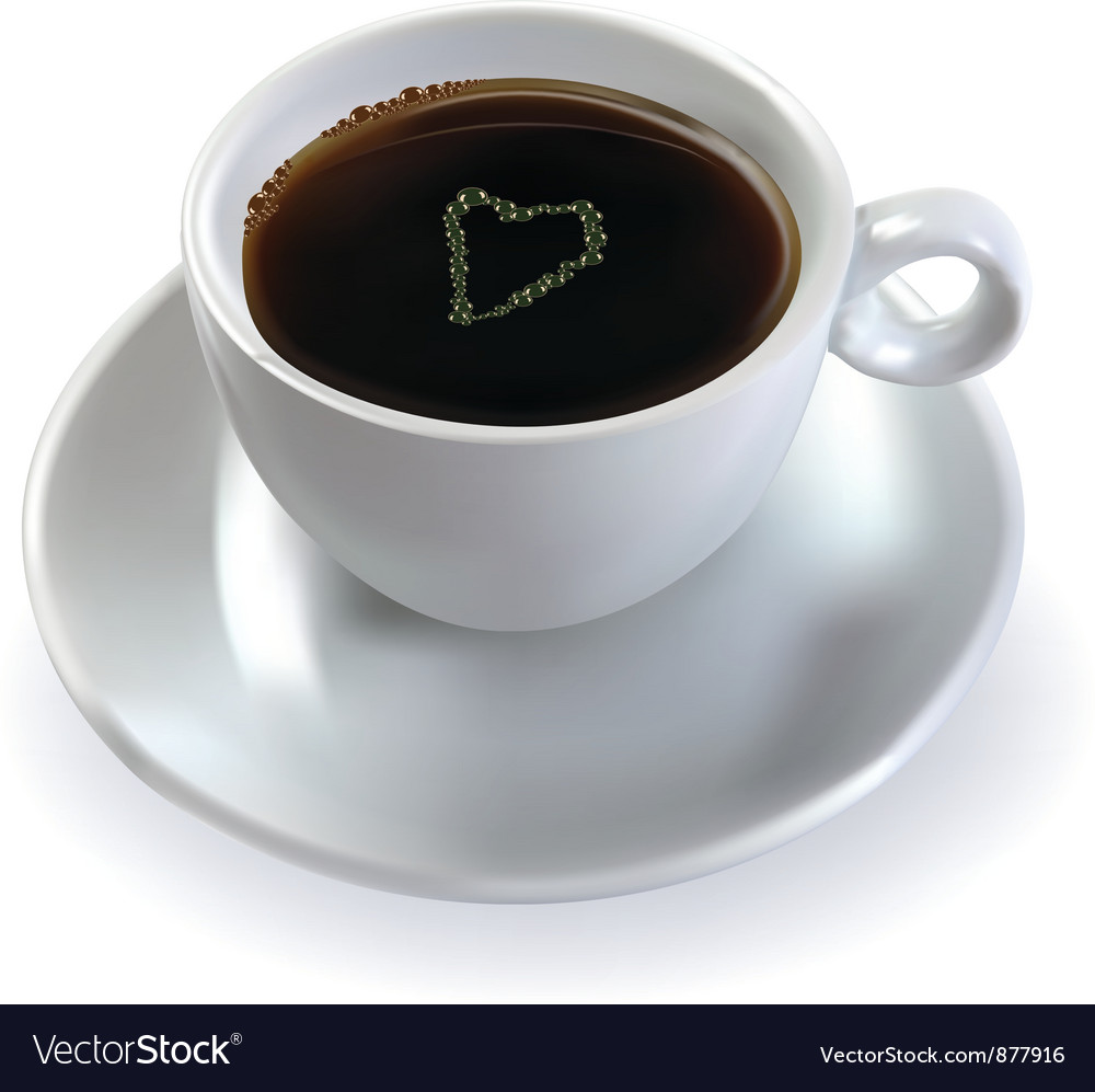 Coffee with sugar heart vector | Price: 1 Credit (USD $1)