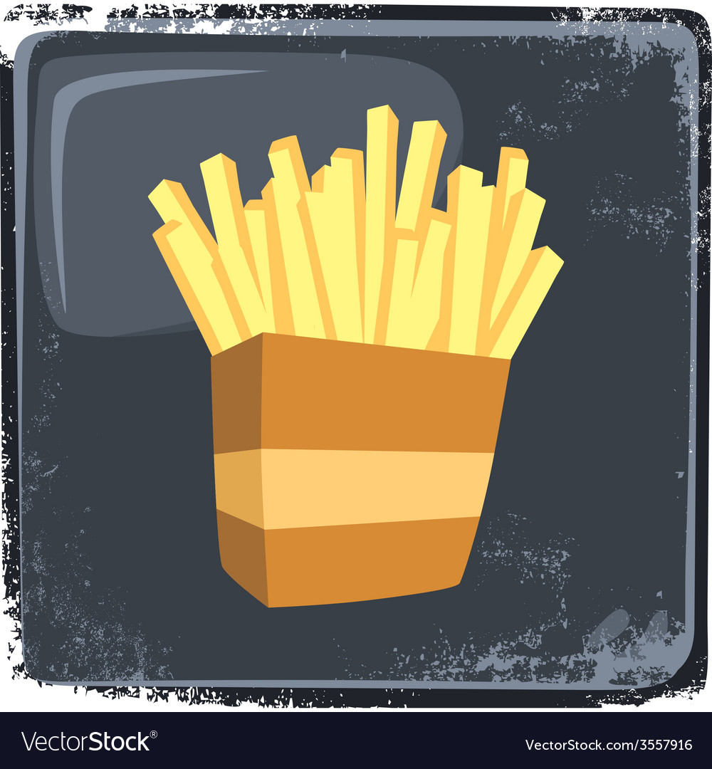 Food and drink theme french fries vector   Price: 1 Credit (USD $1)