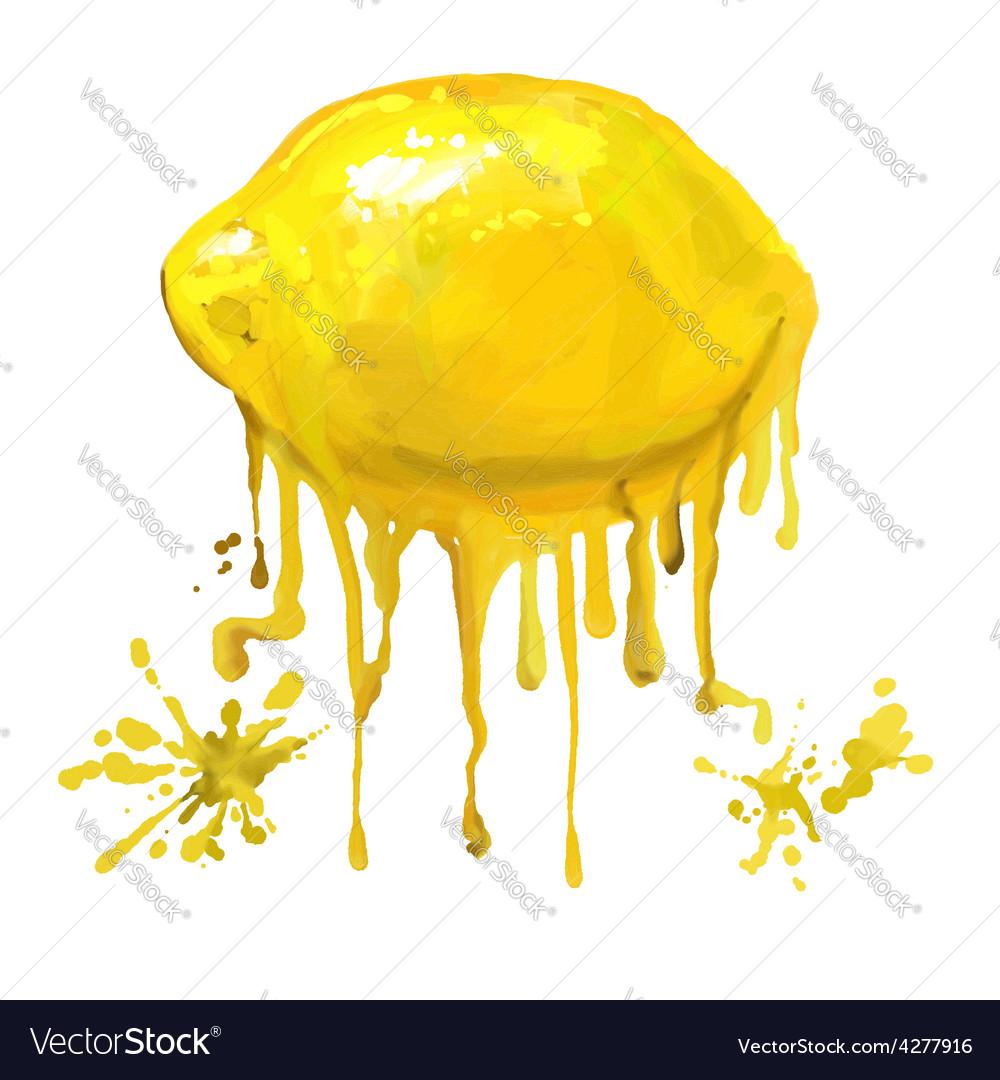 Fruit lemon hand drawn vector | Price: 1 Credit (USD $1)