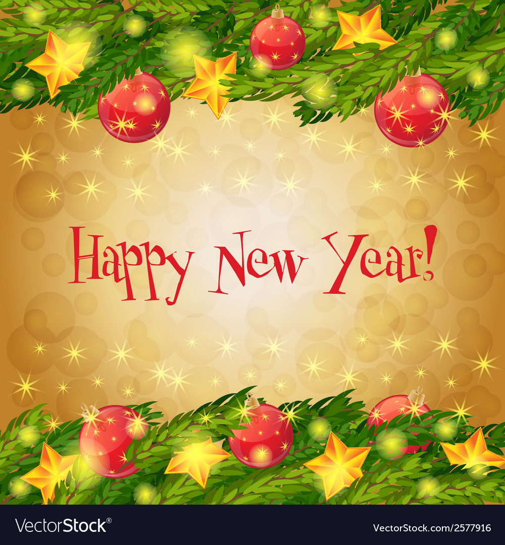 Happy new year card christmas background vector   Price: 1 Credit (USD $1)