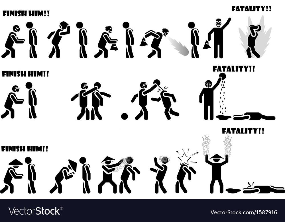 Icon man fatality 2 di 3 vector | Price: 1 Credit (USD $1)