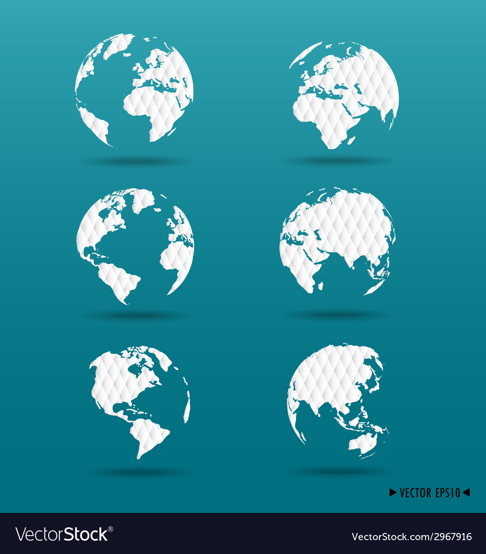 Modern globes vector | Price: 1 Credit (USD $1)