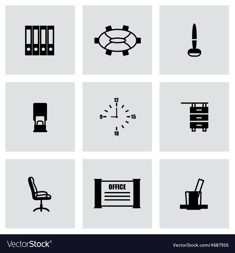 Office icon set vector | Price: 1 Credit (USD $1)