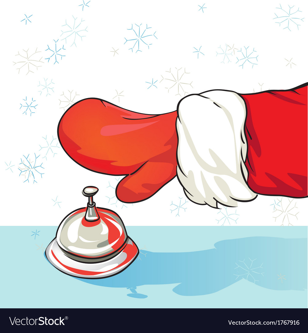 Santa at the hotel vector | Price: 1 Credit (USD $1)