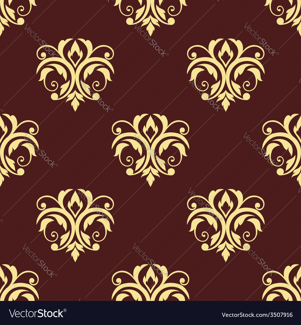 Seamless floral victorian tracery vector | Price: 1 Credit (USD $1)