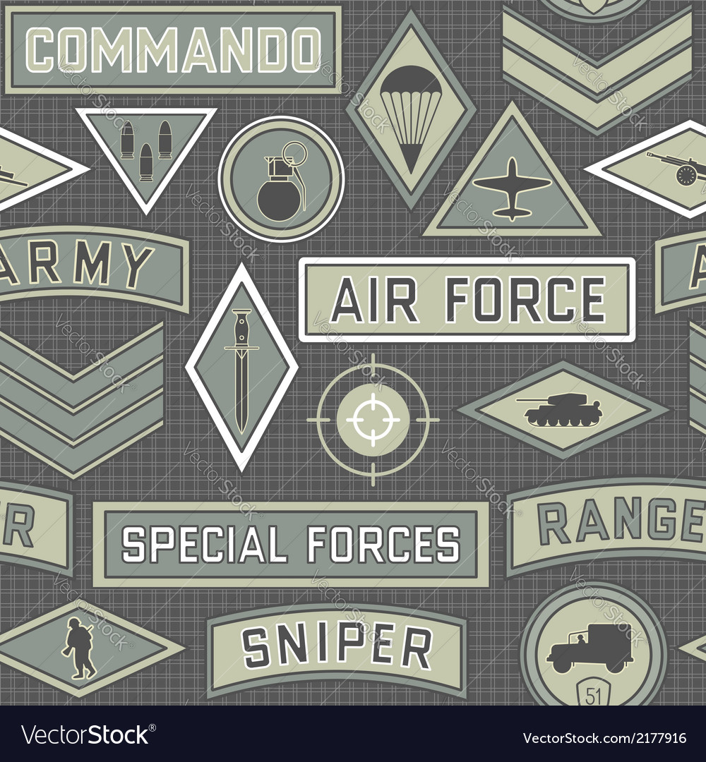Seamless military pattern 09 vector | Price: 1 Credit (USD $1)