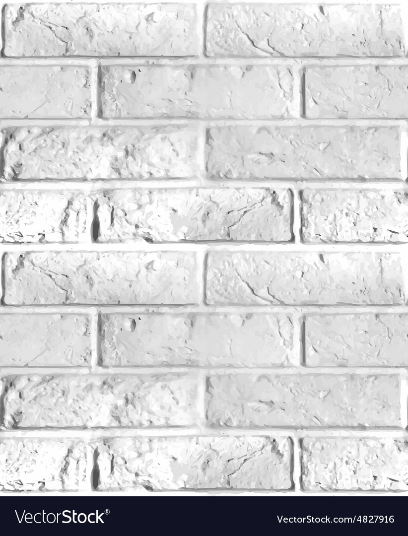 Seamless pattern of brick wall vector