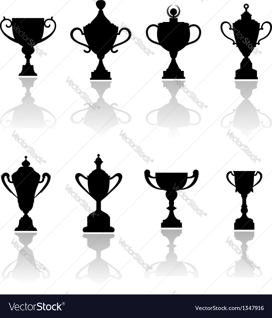 Sport trophies awards and cups vector | Price: 1 Credit (USD $1)