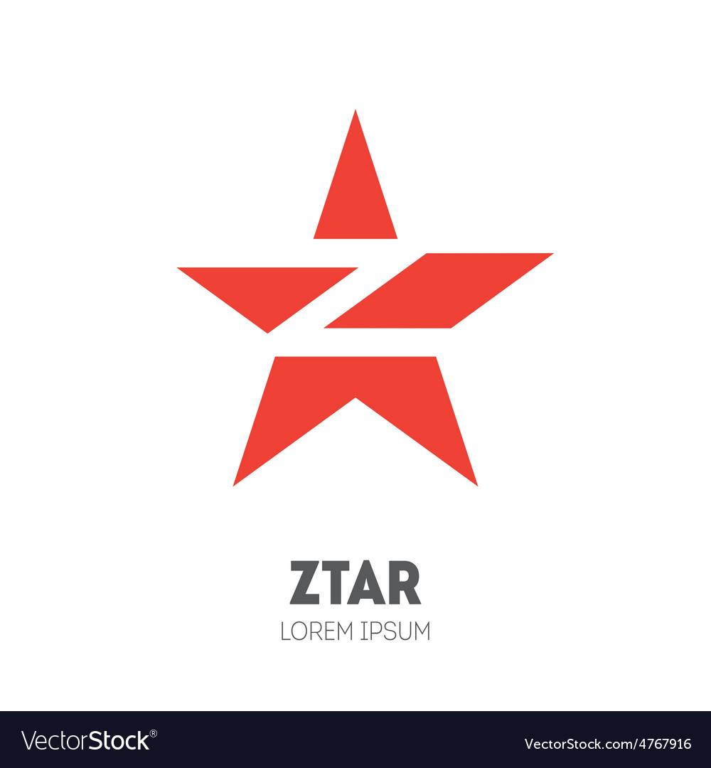 Star - logo template sliced star with letter z vector | Price: 1 Credit (USD $1)