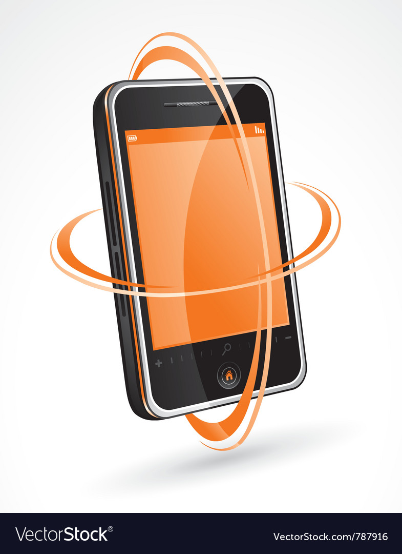 Touchscreen cellphone vector | Price: 3 Credit (USD $3)