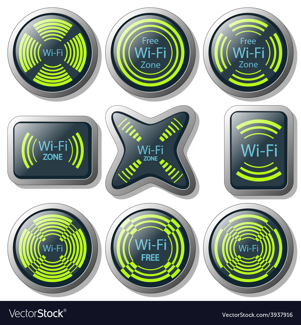 Wireless communication button vector | Price: 1 Credit (USD $1)