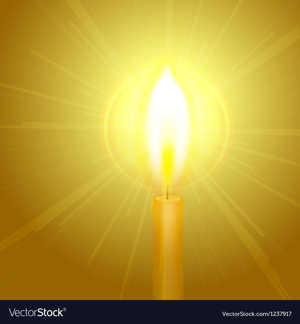 Burning candle vector | Price: 1 Credit (USD $1)