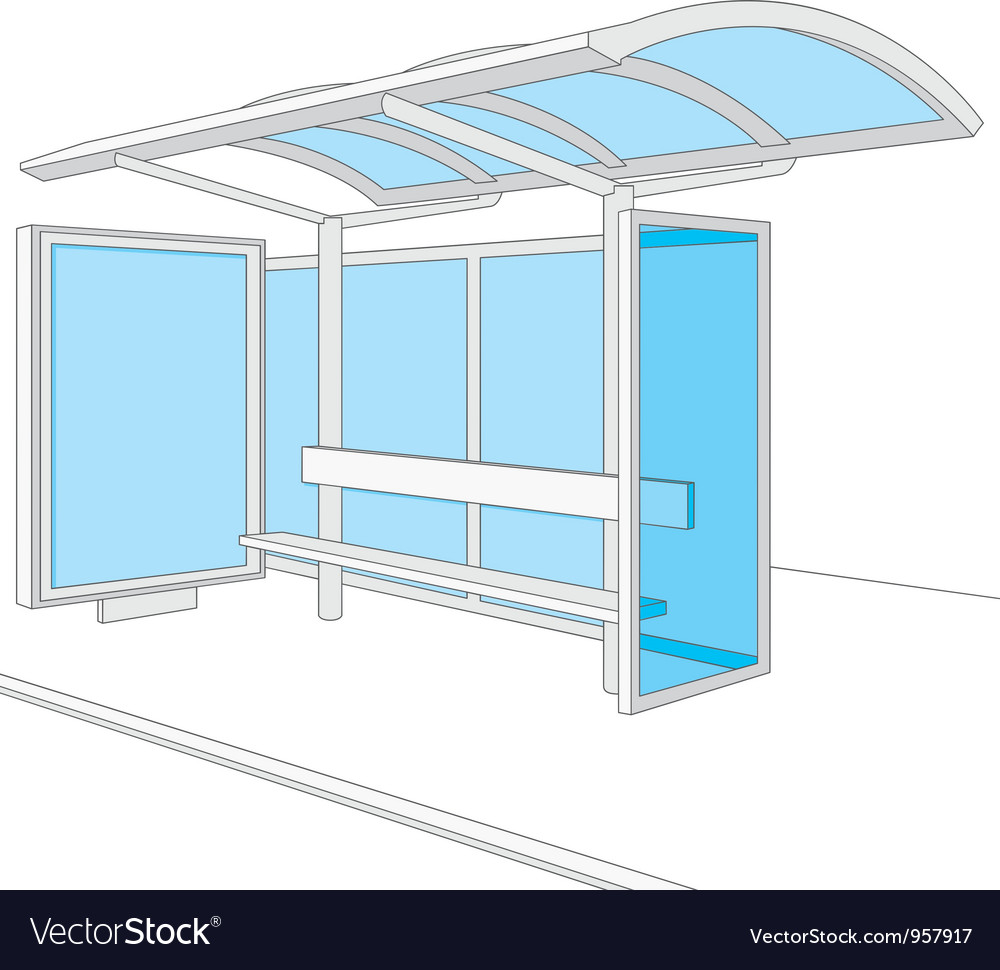 Bus stop vector | Price: 1 Credit (USD $1)