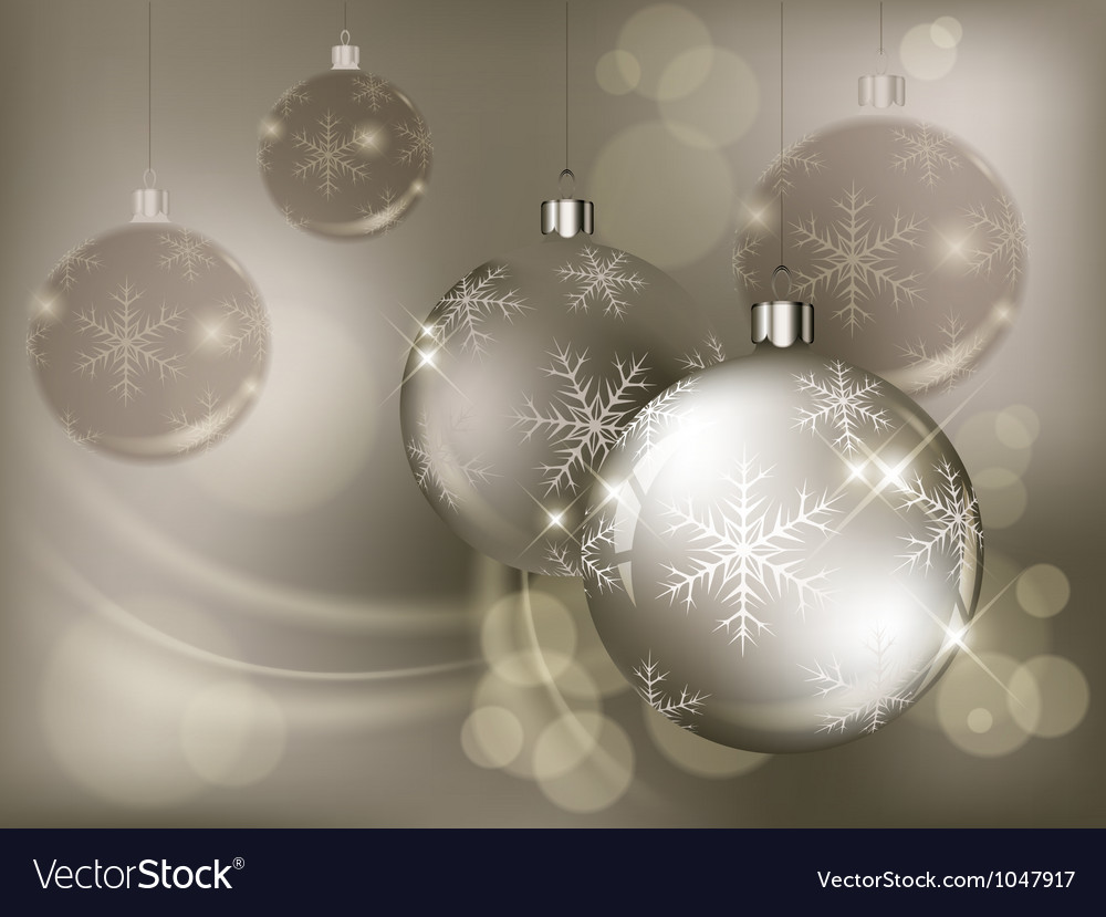 Christmas background baubles color 10 v vector | Price: 1 Credit (USD $1)