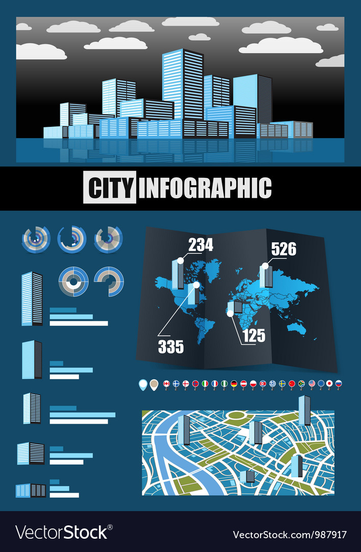 City infographics vector | Price: 3 Credit (USD $3)