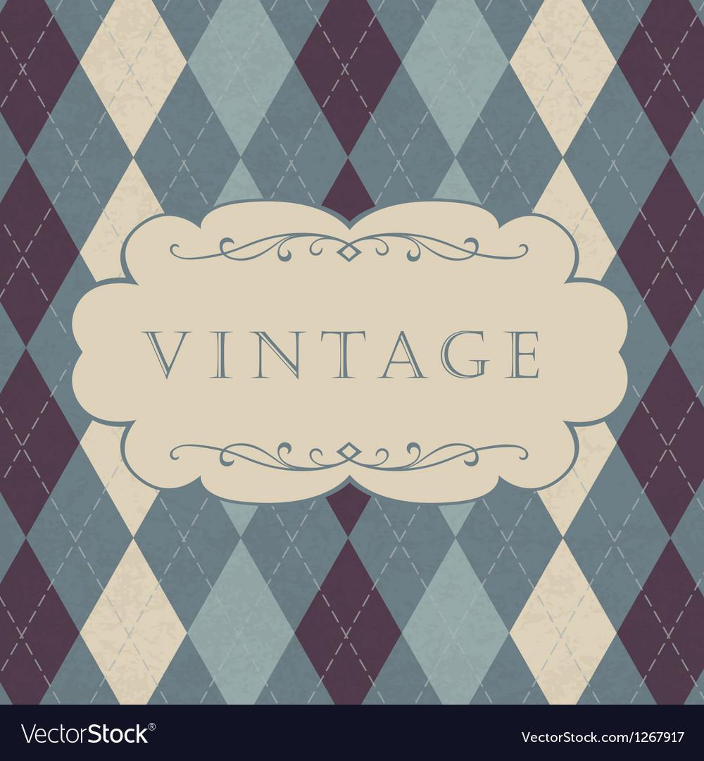 Classic argyle pattern vector | Price: 1 Credit (USD $1)
