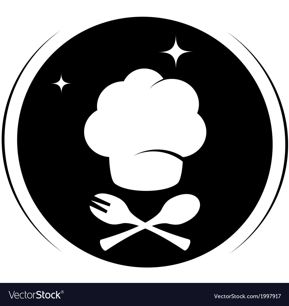 Icon with chef hat vector | Price: 1 Credit (USD $1)