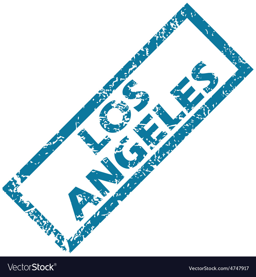 Los angeles rubber stamp vector | Price: 1 Credit (USD $1)