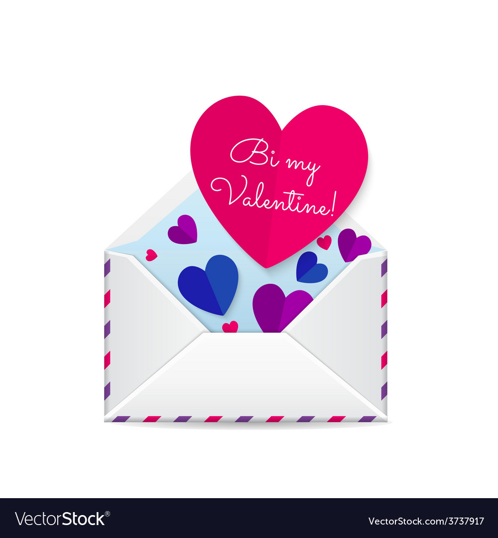 Valentines bisexual card vector | Price: 1 Credit (USD $1)