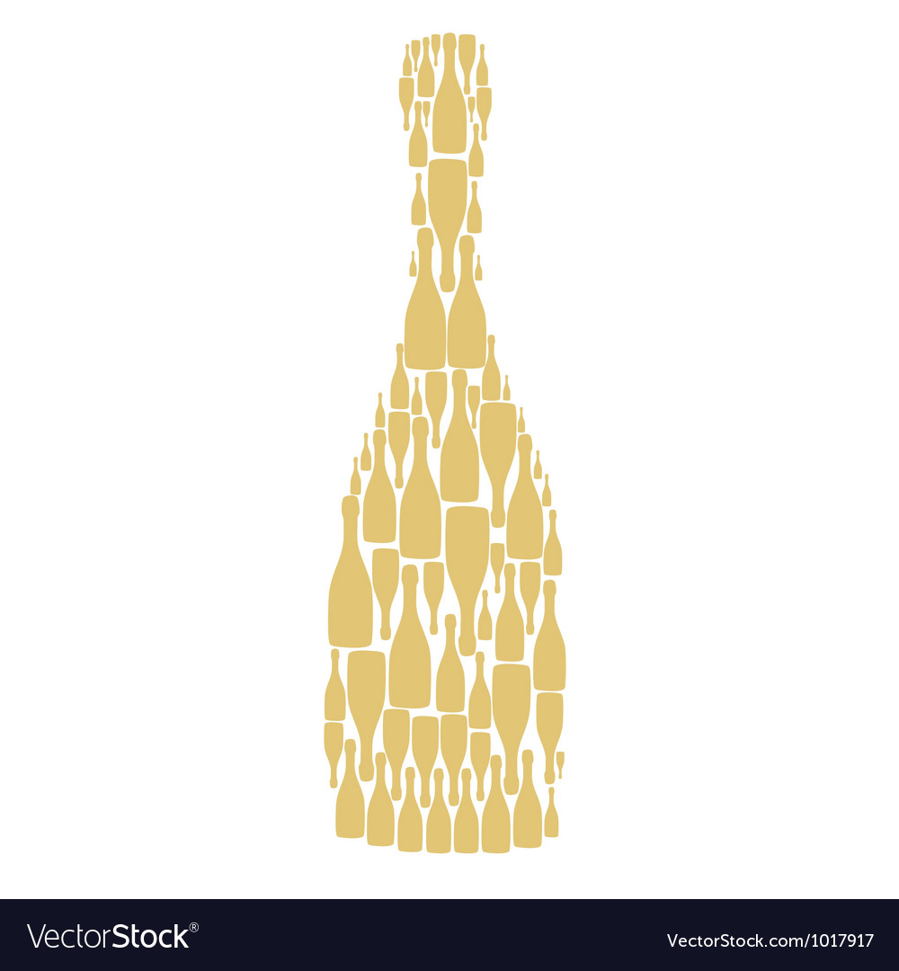 With bottles on white background vector | Price: 1 Credit (USD $1)