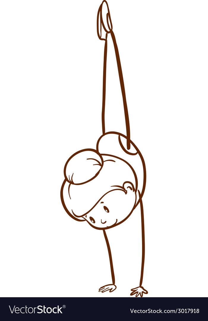 A simple sketch of a gymnast vector | Price: 1 Credit (USD $1)