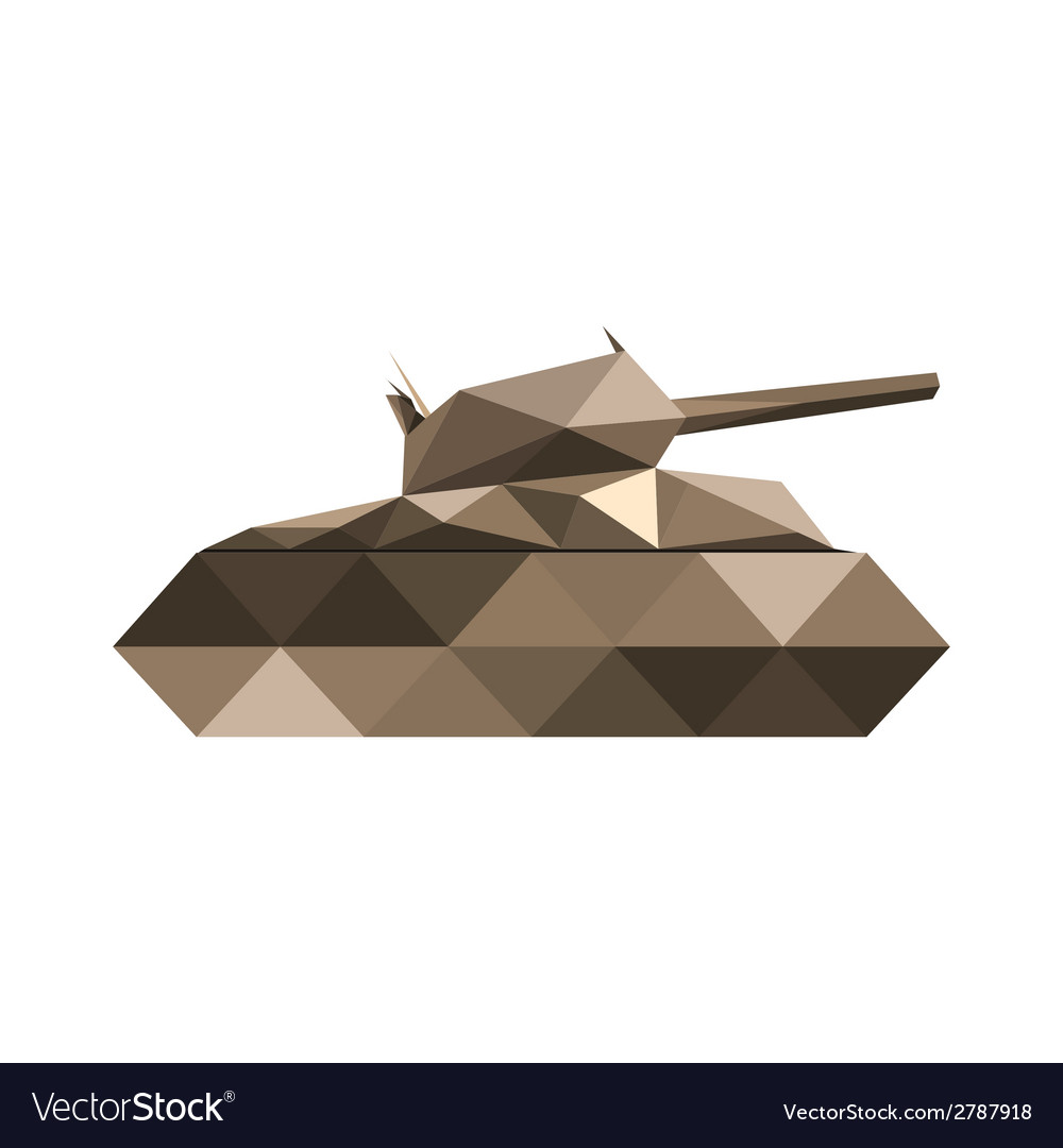 Abstract origamil tank vector | Price: 1 Credit (USD $1)