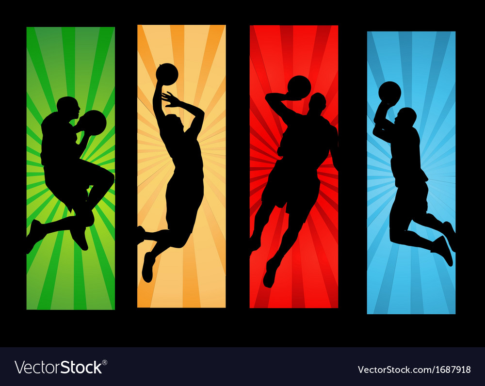 Basketball player dunking vector | Price: 1 Credit (USD $1)