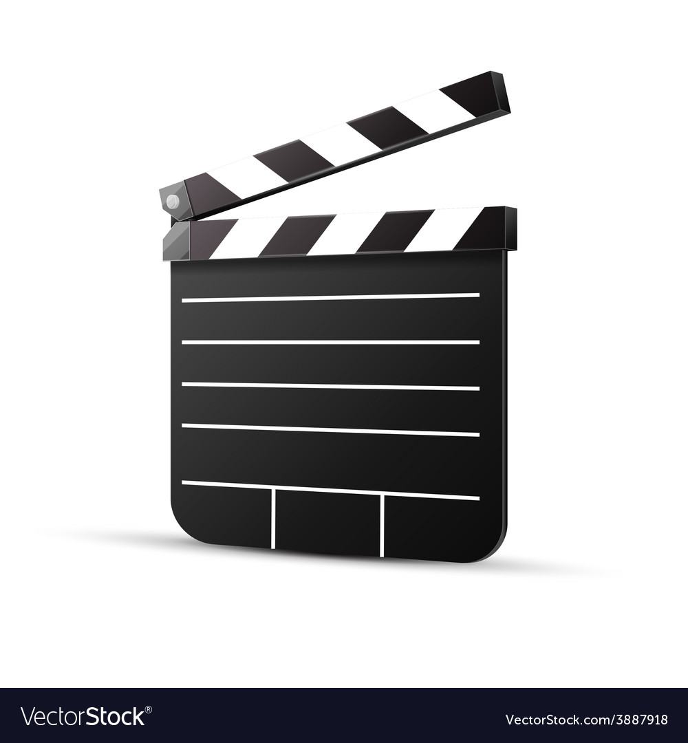 Black cinema clapper isolated vector | Price: 1 Credit (USD $1)