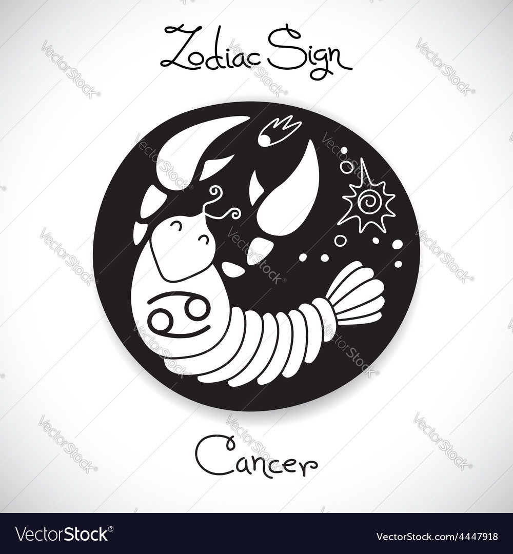 Cancer zodiac sign of horoscope circle emblem in vector   Price: 1 Credit (USD $1)