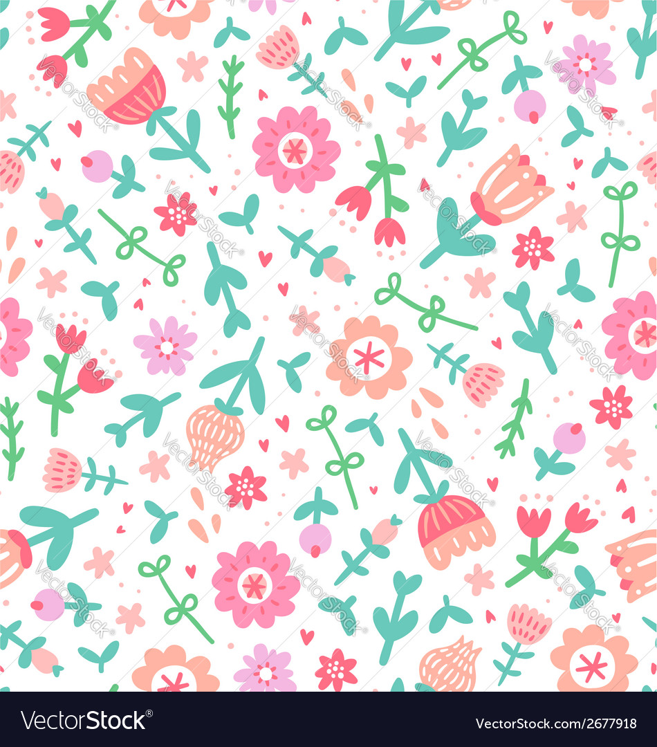 Colorful floral print pattern vector | Price: 1 Credit (USD $1)
