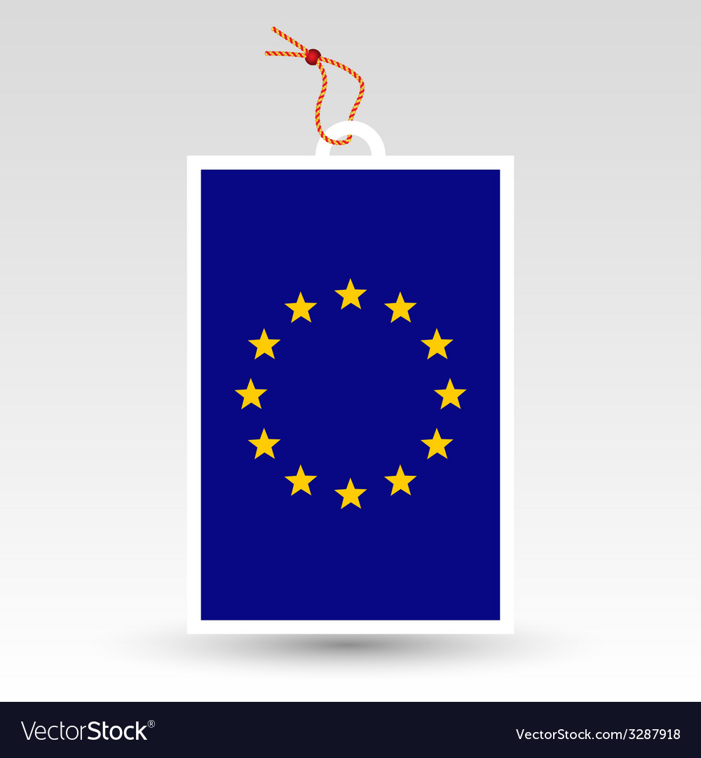 European union tag vector | Price: 1 Credit (USD $1)