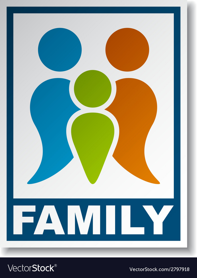 Family symbol sticker vector | Price: 1 Credit (USD $1)