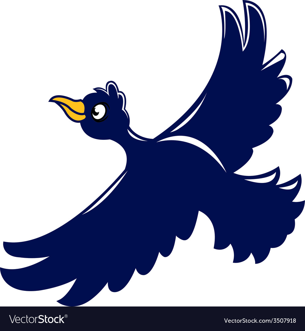 Flying crow vector | Price: 1 Credit (USD $1)