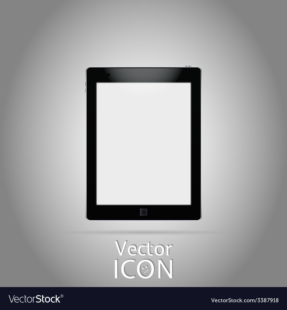 Icon tablet flat style vector | Price: 1 Credit (USD $1)