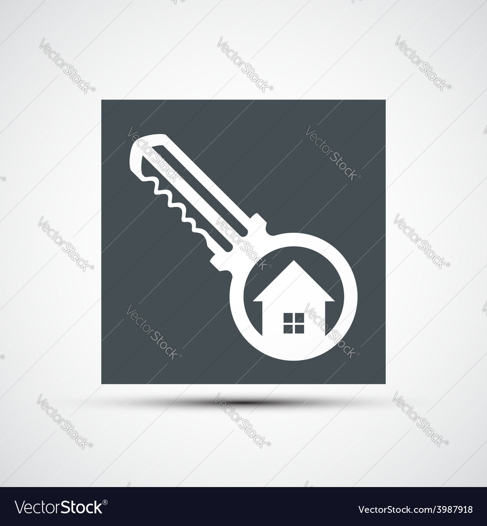 Icons key with a house vector | Price: 1 Credit (USD $1)