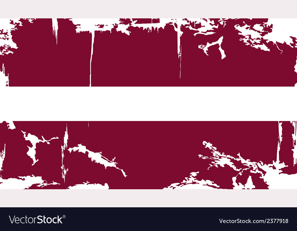 Latvian grunge flag vector | Price: 1 Credit (USD $1)