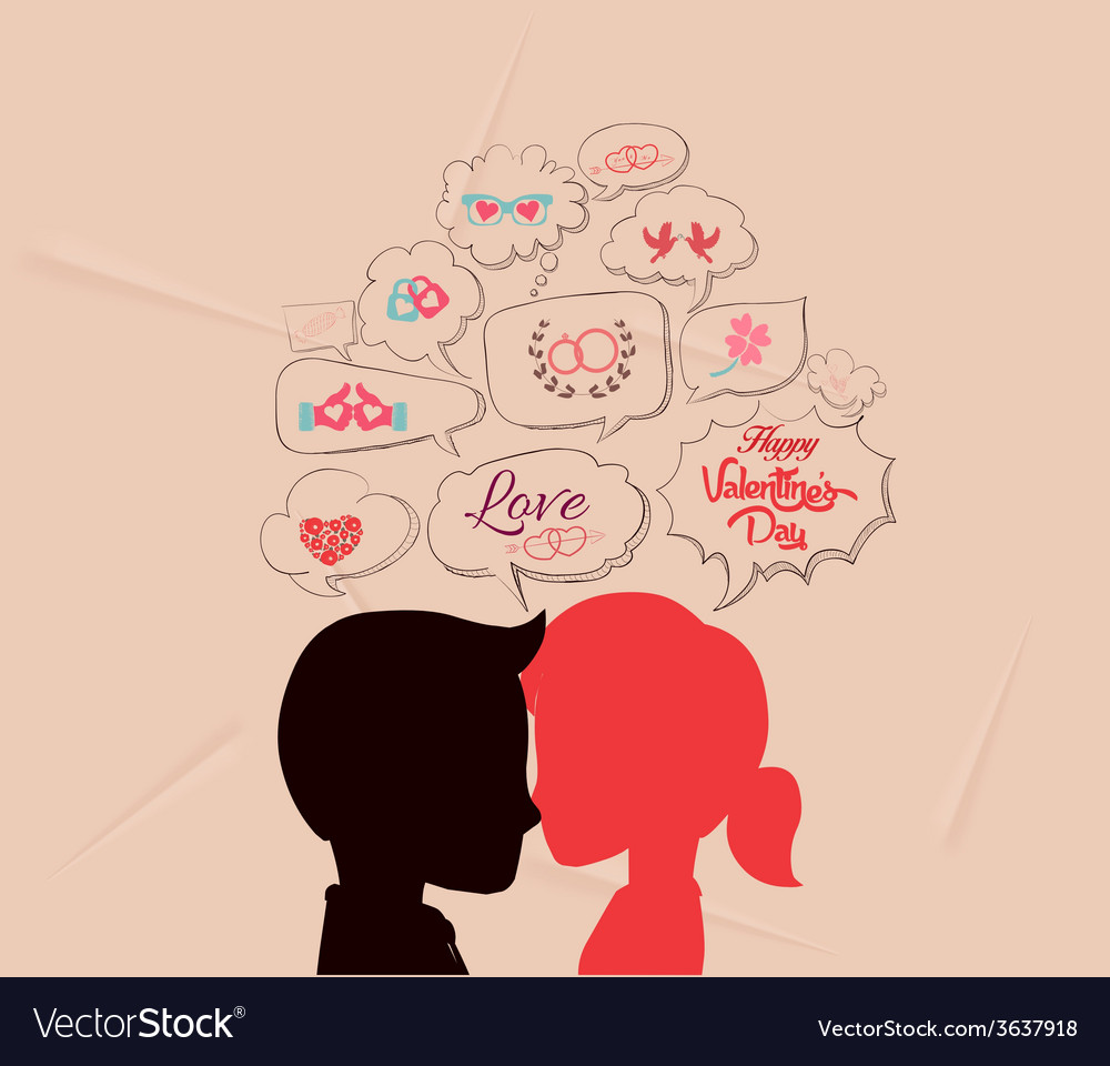 Love is share the same thoughts and valentines vector | Price: 1 Credit (USD $1)