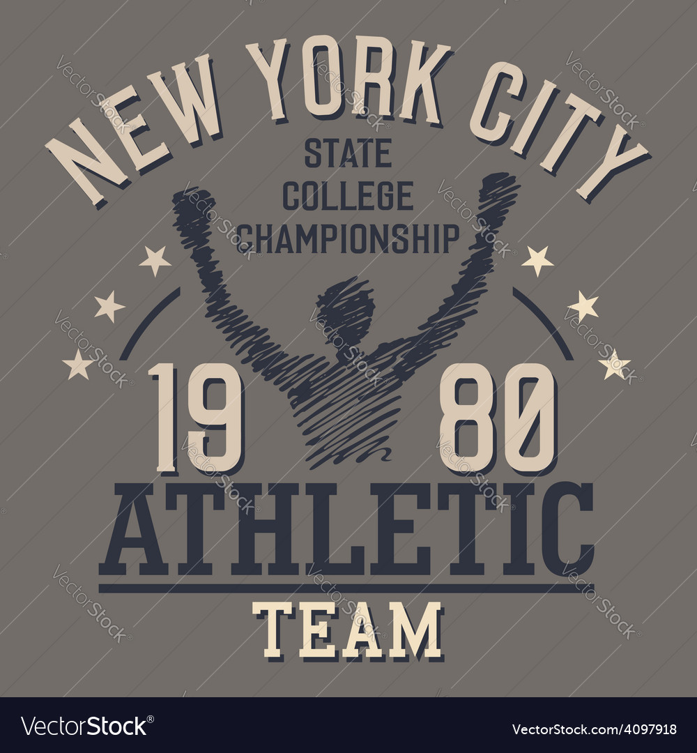 New york athletic team vector | Price: 1 Credit (USD $1)